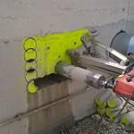 perforación vertical en hormigón
