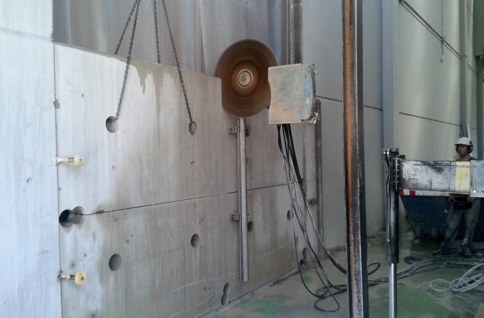 Perforación en Prefabricado de Hormigón