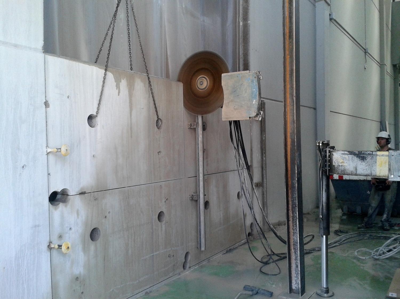 apertura puerta muro prefabricado