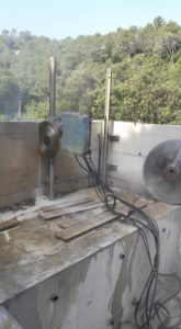 Demolición técnica en muro de hormigón